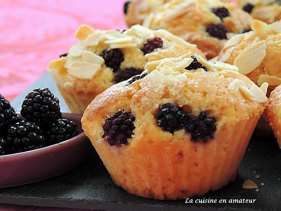 recette Muffins aux mûres et amandes effilées