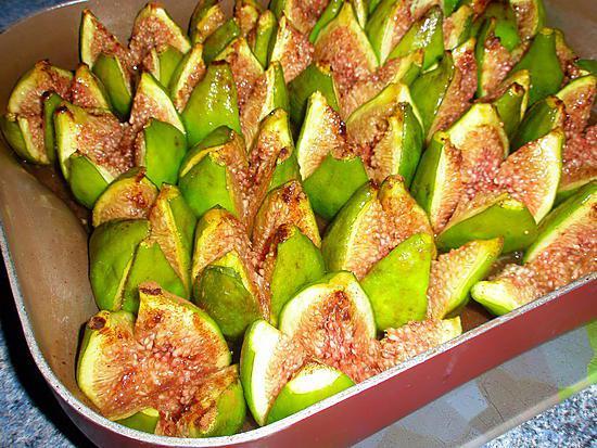 recette Figues blanches rôties au miel