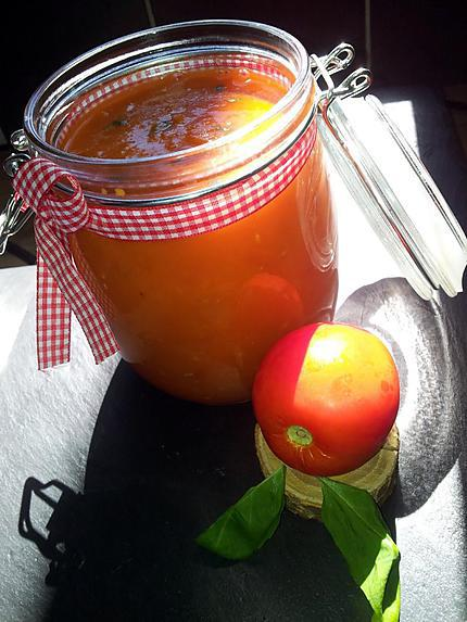 recette Coulis de tomates fraiches-basilic faits maison