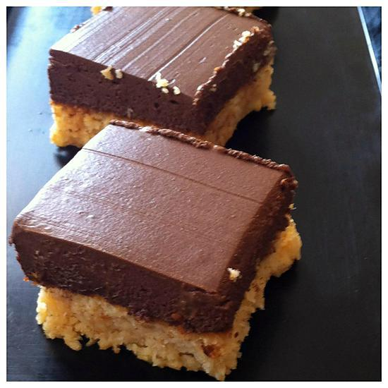 recette Carrés coco chocolat