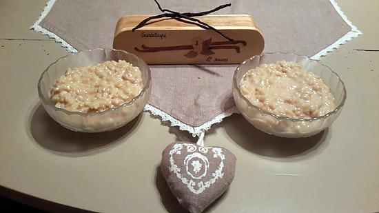 recette de riz au lait cr meux par recettes au companion ou pas de sandrine. Black Bedroom Furniture Sets. Home Design Ideas