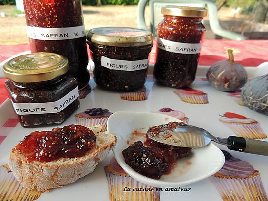 recette de confiture de figues au safran. Black Bedroom Furniture Sets. Home Design Ideas