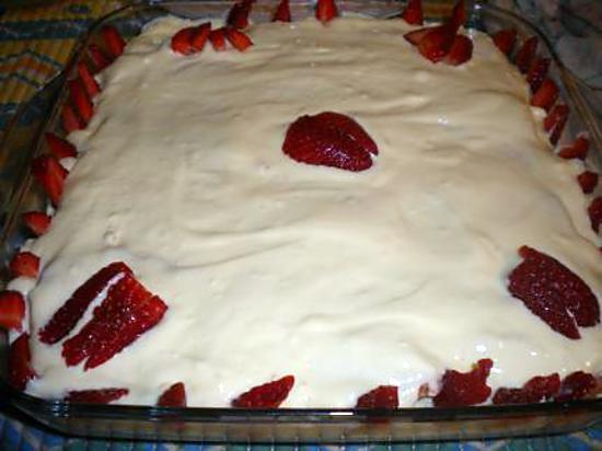 recette Tiramisu à la fraise