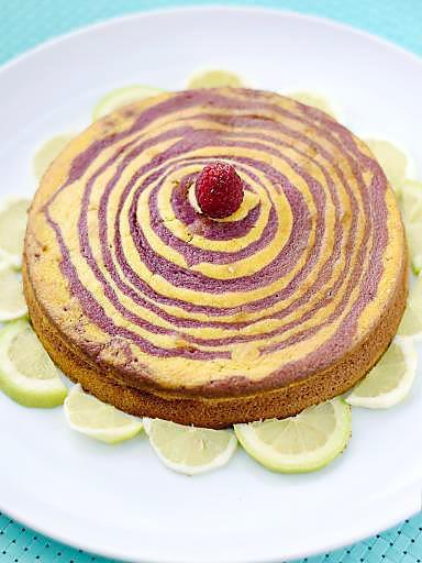 recette Cake citron framboise