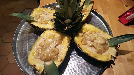 recette Bananes et ananas au lait de coco
