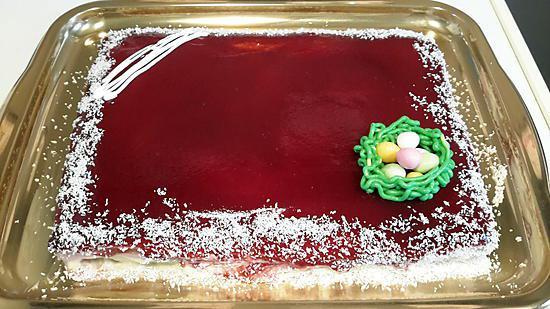 recette Bavarois fraises kiwis et son croustillant