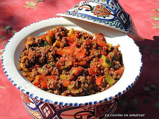 recette Tajine de viande hachée aux épices