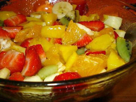 Recette de salade de fruits par carvalho maria - Coupe de salade de fruits ...