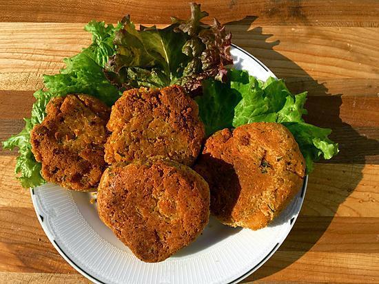 recette Croquettes de tofu et pois chiches santé