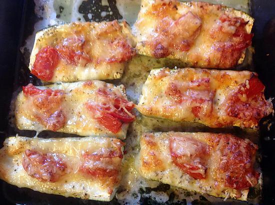 recette Courgettes farcies façon pizza de Nicole