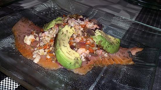 recette Salade de boulgour aux saumon