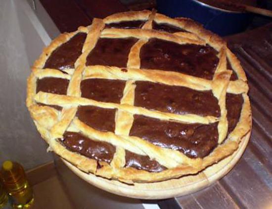 recette Tarte au chocolat et au noix