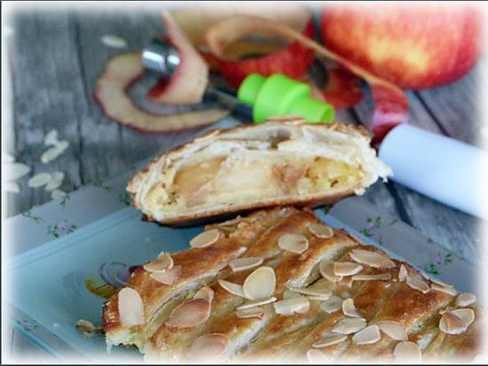recette Tresse aux pommes et à la crème d'amandes