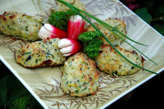 recette Quenelles de riz à la courgette