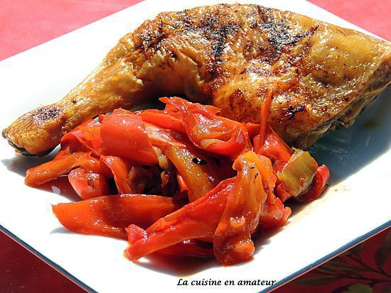 Recette de cuisse de poulet aux poivrons - Cuisse de poulet calories ...