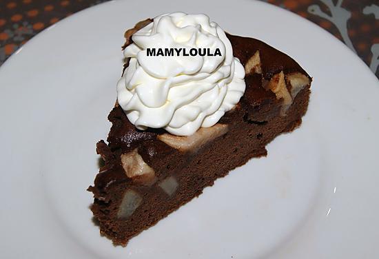 recette Gâteau poires/chocolat