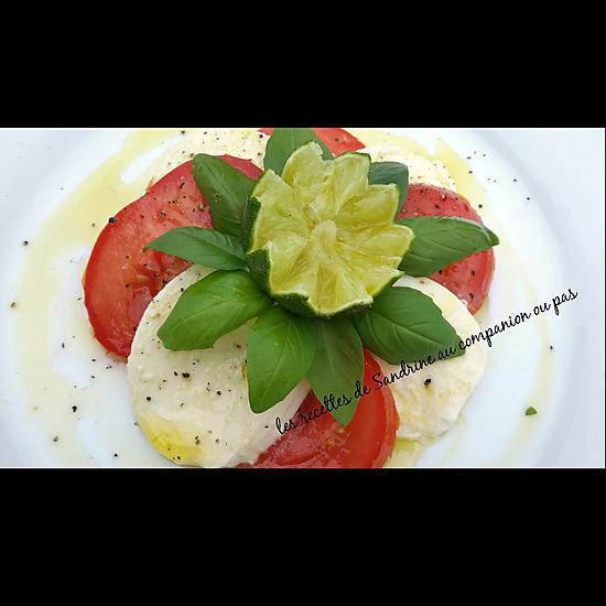 recette Tomates mozzarella à l'huile d'olive citron