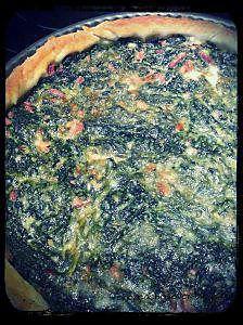 recette Tarte épinards bacon parmesan
