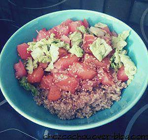 recette Poke bowl au saumon