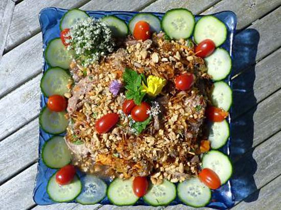 recette Salade de boeuf à la citronnelle
