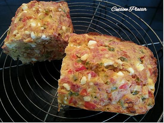 Recette Cake Lardons Oignons Poivrons