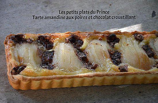 recette de tarte amandine aux poires et chocolat croustillant. Black Bedroom Furniture Sets. Home Design Ideas