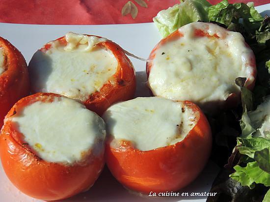 recette Tomates farcies aux fromages et bacon