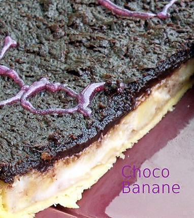 recette Tarte chocolat-banane