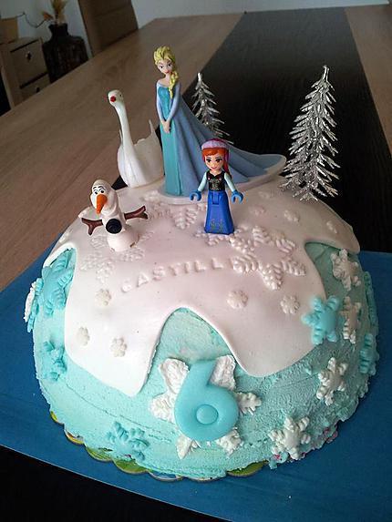 Recette de gateau d'anniversaire reine des neige