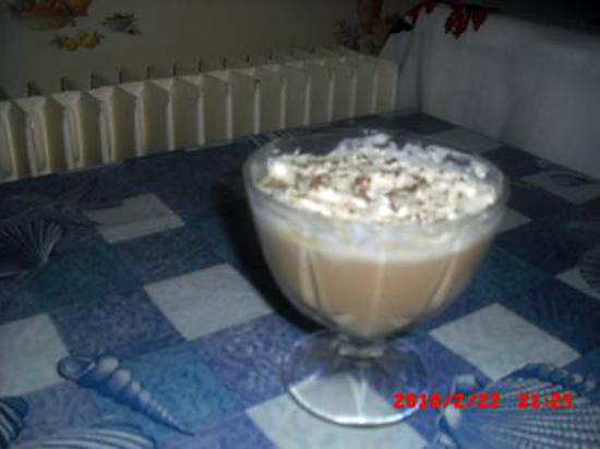 recette créme café et sa chantilly