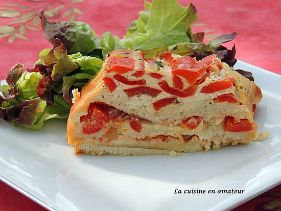 recette Croque-cake  poivrons