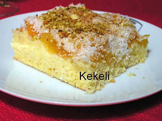 recette Gâteau aux abricots et noix de coco
