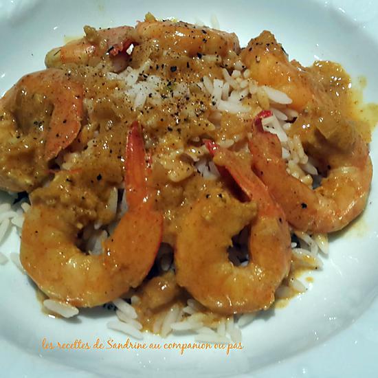 recette Curry de crevettes (au companion, autres robots ou sans)