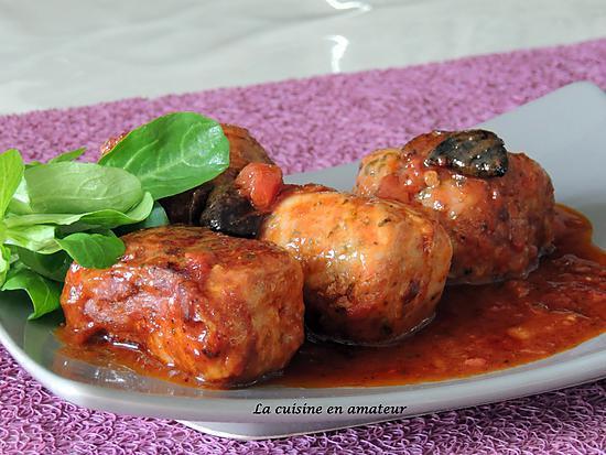 recette Crépinettes aux olives noires