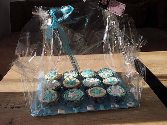 recette Cupcakes d'anniversaire La reine des neiges