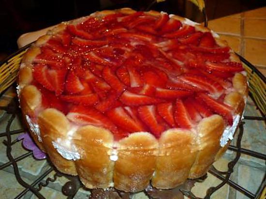 recette Charlotte façon fraisier