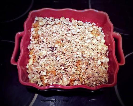 recette Crumble de potimarron aux châtaignes
