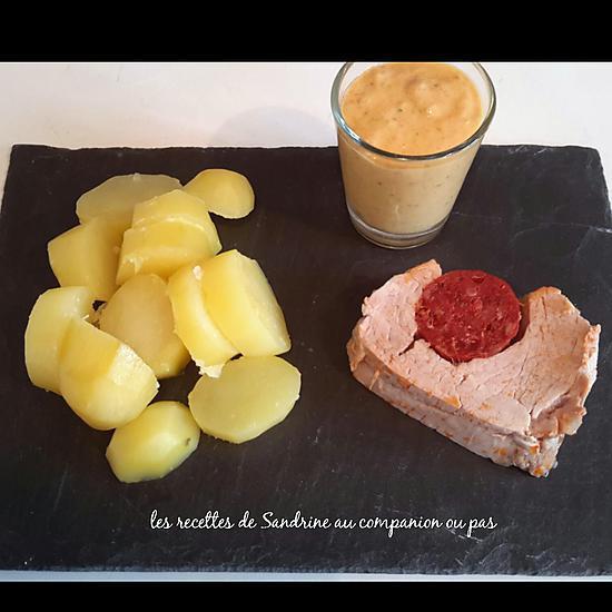 recette Filet mignon au chorizo et sa sauce chorizo boursin (au companion ou autre robot)