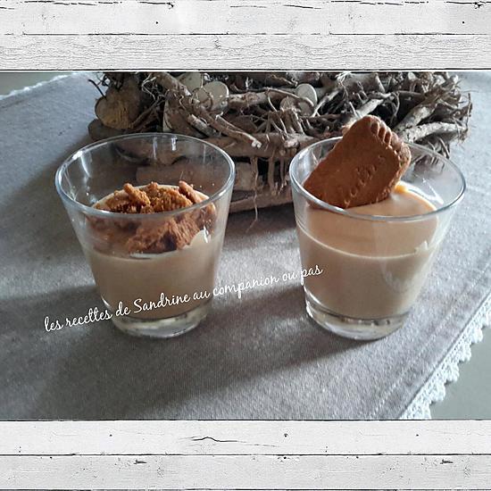 recette Crème dessert onctueuse aux spéculoos (au companion ou autres robots)