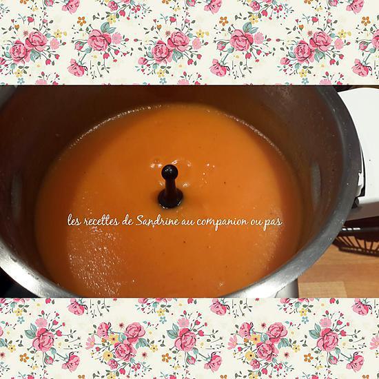 recette Velouté pommes de terre, carottes, tomates (au companion ou autres robots)