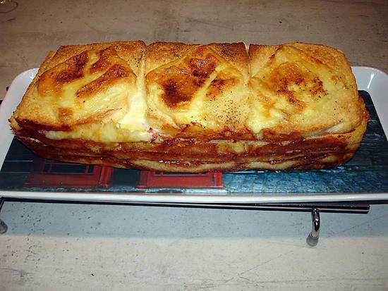 recette Croque cake à la raclette