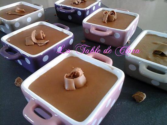 recette Petites crèmes à la pralinoise
