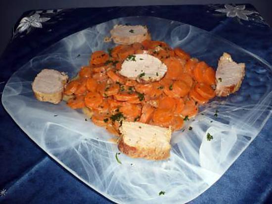 recette de filet mignon au vin blanc et ses petites carottes persill es. Black Bedroom Furniture Sets. Home Design Ideas