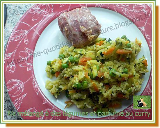 recette Riz mélangé à des légumes et parfumé au curry