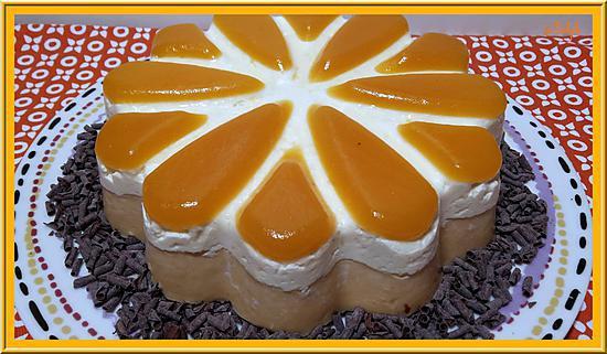 recette Entremet Chocolat blanc et Abricot
