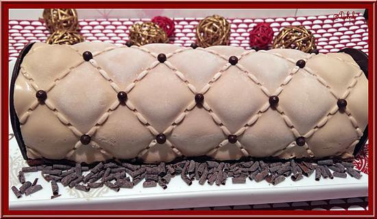 recette Bûche au chocolat et son Insert au crémeux de fruits de la passion