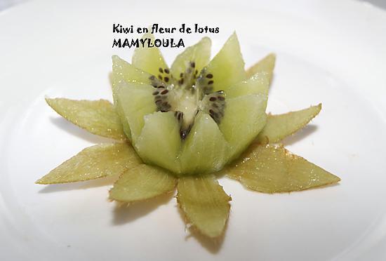 recette de kiwi en fleur de lotus. Black Bedroom Furniture Sets. Home Design Ideas