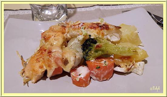 recette Gratin de poissons aux légumes