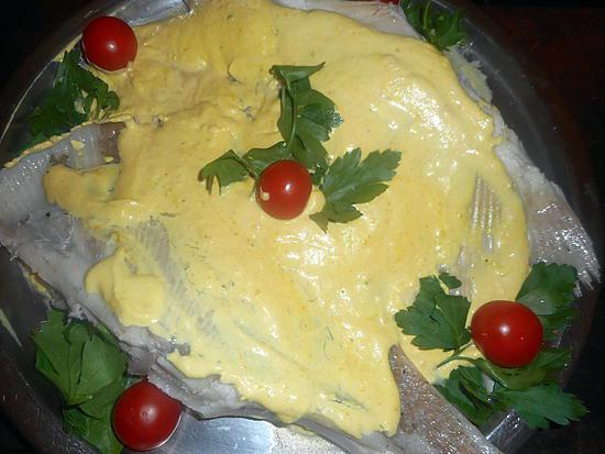 recette Aile de raie a la moutarde