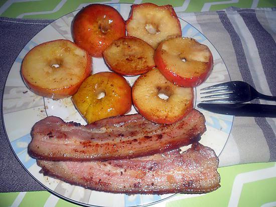 recette fricasée de pommes aux lard
